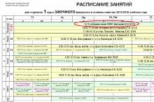 Расписание зимней сессии 2015-2016 уч. года