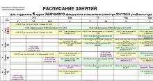 Расписание занятий, зачетов и экзаменов весенней сессии ФЗВО ИГЭУ 2017-2018 учебного года