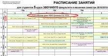 Расписание весенней сессии ФЗВО 2018-2019 учебного года
